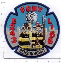 Engine 243 Ladder 168 Fire Patch v9 Honeymooners