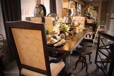 Dinner time #FarmHouse style! Check out our website UrbanFarmhouse.com for custom farmhouse furniture.