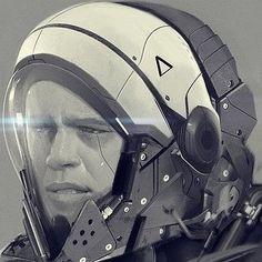 JOJO POST DIGI: HELMET, Cyberpunk, Android, Robot, Futuristic, Sci-Fi, Military, Star gate,  Cyborg, Cabuto, Clothing, Fashion, Future, Armor, Mask. Communication.