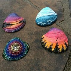 Pretty painted seashells By - Dead link.Get inspired with 20 painted sea shell crafts and shell designs. It's easy to decorate your favorite shells and turn them into beautiful shell art.Goals-paint seashells by the seashore.Likes, 136 Comments - Center f Seashell Painting, Seashell Art, Seashell Crafts, Beach Crafts, Summer Crafts, Cute Crafts, Stone Painting, Rock Painting, Crafts With Seashells
