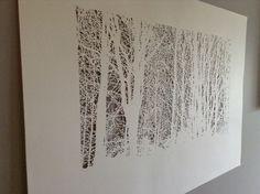 Papercut before framing Paper Cutting, Create, Artwork, Work Of Art, Auguste Rodin Artwork, Artworks, Illustrators