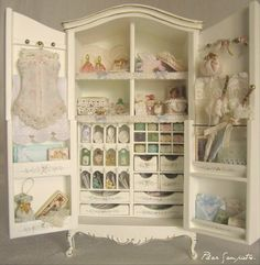 Shabby Chic wardrobe, inside and out!! Love it!!