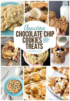 Tons of amazing chocolate chip cookies recipes and chocolate chip cookie treats! So many goodies made with the classic chocolate chip cookie taste!