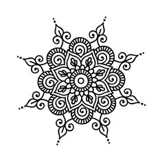Mandala daire Best Picture For Mandala Drawing bohemian For Your Taste You are looking for something Mandalas Painting, Mandalas Drawing, Mandala Coloring Pages, Dot Painting, Flower Henna, Flower Mandala, Mandala Design, Pattern Wall, Tattoos Mandala