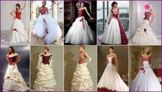 Red Svatební šaty Photo 2016 modelů a příslušenství k nim
