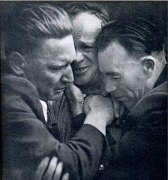 Защитники Брестской крепости на встрече 15 лет спустя. Москва 24 июля 1956 года