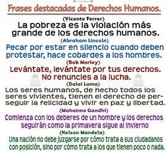 Frases destacadas de Derechos Humanos ..-