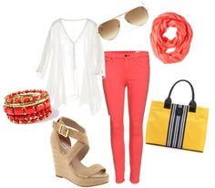 """""""pop of color"""" by lferg on Polyvore"""