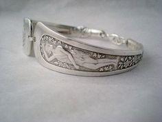 Spoon Bracelet Antique Silverware Art Nouveau Spoon Jewelry - ARCADIAN 1884