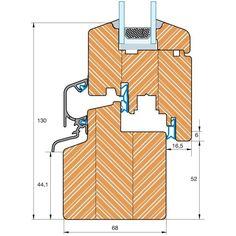 Holzfenster Classic IV68 Profilschnitt