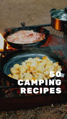 Do you love the great outdoors? Then this is the eBook for you. In it, we've compiled 50 recipes that are perfect for your next camping adventure - from breakfast to dessert! All the best recipes gathered into one place so you don't have to go through dozens of websites for inspiration. Diy Camping, Camping Meals, Tent Camping, Camping Products, Camping Supplies, Camping Essentials, Budget Travel, Good Food, Outdoors