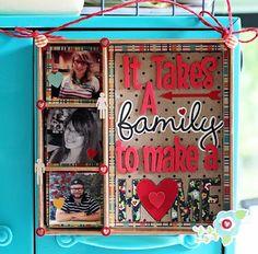 Happy Home- Front Porch Kit- Shadowbox design by Valerie Bishop