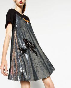SEQUINNED DRESS-DRESSES-WOMAN   ZARA United States