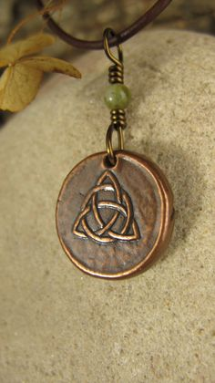 Trinity Knot Triquetra Wax Seal Charm Pendant by soulharborjewelry