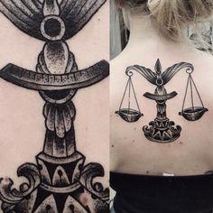 Dotwork Libra Tattoo