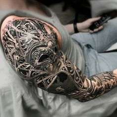 check out these 30 creative examples of Venetian mask tattoos put together for your inspiration - a dramatic way to reveal your theatrical side. Incredible Tattoos, Beautiful Tattoos, Venetian Mask Tattoo, Arm Tattoo, Sleeve Tattoos, Louisiana Tattoo, Tattoo Gallery, Vegas Tattoo, Semicolon Tattoo