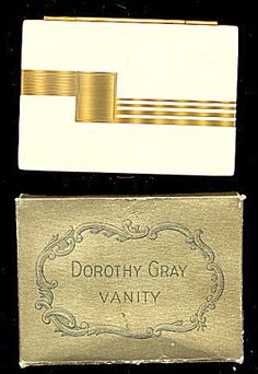 1920s Dorothy Gray With Box Art Deco Compact