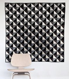 hand quilted lap quilt geometric quilt black by anotherghostquilts