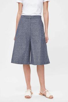 COS | Speckled denim trouser skirt