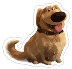 Perfect for Pixar fans and even better for dog lovers. Up Carl Y Ellie, Doug The Dog, Up Imagenes, Up Pixar, Disney Up, Disney Pixar, Nurse Art, Old School Cartoons, Red Bubble Stickers