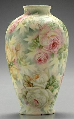 Royal Bayreuth Rose Tapestry Vase, 19th Century