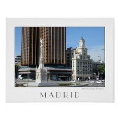 Plaza de Colon, Madrid Poster $29.05