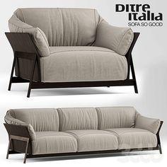 Диван и кресло kanaha ditre italia