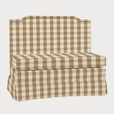 vignette design: Furniture Shopping Online - I LOVE THIS BANQUETTE, JUST NOT THE FABRIC PATTERN.