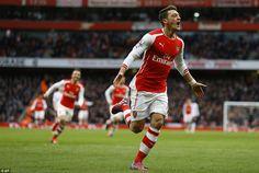 Arsenal 5-0 Aston Villa: Mesut Ozil, Olivier Giroud, Theo Walcott, Santi Cazorla, and Hector Bellerin all score   Daily Mail Online