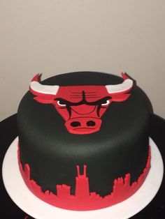 Chicago Bulls Cake by Maris Boutique Cakes Maris Boutique