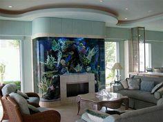 This aquarium is so cool!  Love this idea