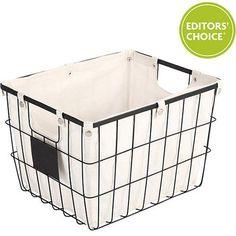 Better Homes and Gardens Medium Wire Basket with Chalkboard, Black - Walmart.com