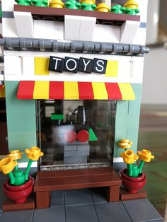 Here is my second Modular conversion.  This time I started with two 31036 Toy Store and Grocery sets.  I decided to just focus on the Toy Store, since the G...