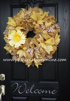 Spring Mesh Wreath Spring Wreath Summer Wreath by poshcreationsKY, $75.00