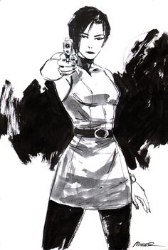 Ada Wong sketch circa Resident Evil 2.