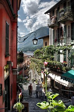 Walking around Lake Como, Italy.