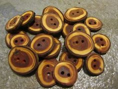 20 Yew Wood Tree Branch Buttons. Just Under 1 by PymatuningCrafts, $12.00