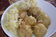 Gemersko-rožňavské guľky (fotorecept) - Recept Dumplings, Ale, Shrimp, Grains, Pizza, Bread, Chicken, Cooking, Food