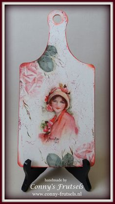 "Kaasplankje ""Dame in rood"""