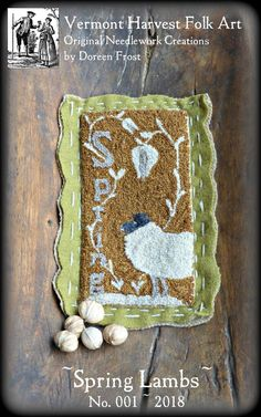 ~SPRING LAMBS Punch Needle Embroidery Pattern