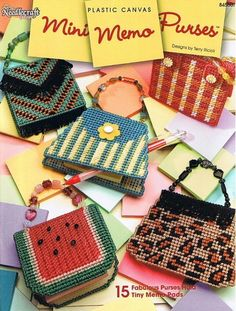 MINI MEMO PURSES Plastic Canvas Pattern Book. $5.00, via Etsy.