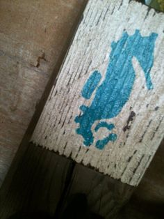 Seahorse Sea Creature Wall Art Salvaged Wood by ELouiseBoutique, $6.00