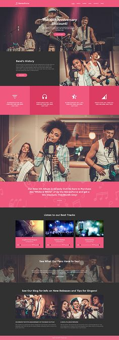 Music website inspirations at your coffee break? Browse for more WordPress #templates! // Regular price: $75 // Sources available:.PHP, This theme is widgetized #Music #WordPress