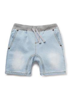 New Denim Terry Short Toddler Pants, Toddler Boys, Kids Boys, Bermudas Shorts, Boy Shorts, Baby Boy Outfits, Kids Outfits, Short Niña, Baby Park