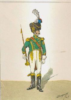 Tamburo maggiore dei fiancheggiatori granatieri della guardia imperiale francese