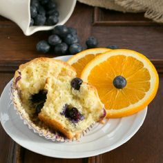 Tender and tasty Blueberry Orange Muffins.