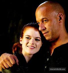The Last Witch Hunter  - Behind the scenes photo of Vin Diesel & Rose Leslie
