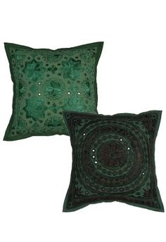 ($10.00) Home Furnishing Cotton Cushion Covers with Mirror Work From Rajrang