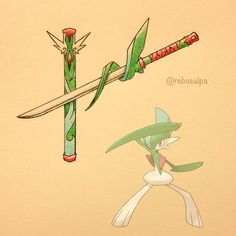 My weapon, -Maliha (I realize this is for Gallade, I just didn't really like the designs I saw far Gardevoir)
