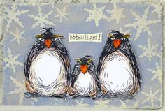 Katzelkraft - French rubber stamps - KATZELKRAFT - the Grumpy Penguins ~ cousins from the North